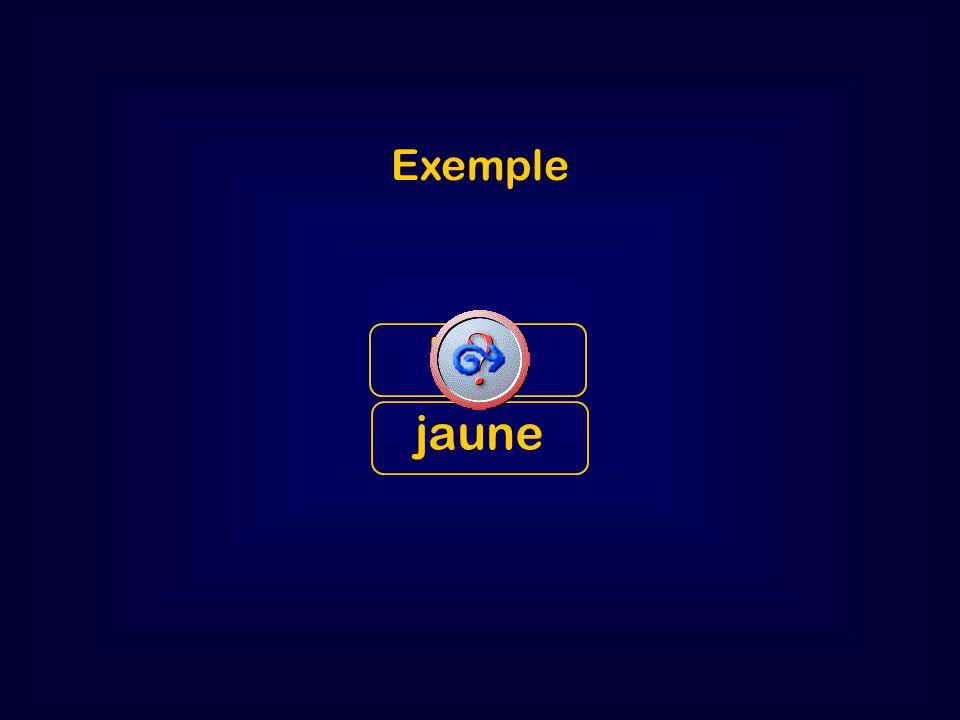 ex Exemple bleu jaune