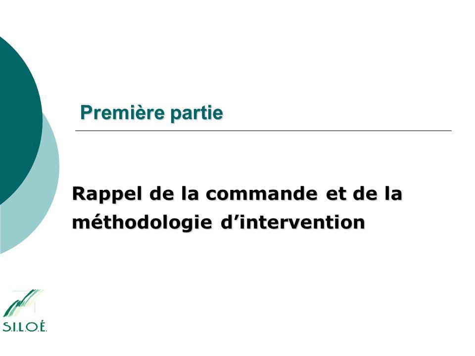 Première partie Rappel de la commande et de la méthodologie d'intervention