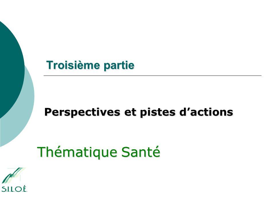 Troisième partie Perspectives et pistes d'actions Thématique Santé