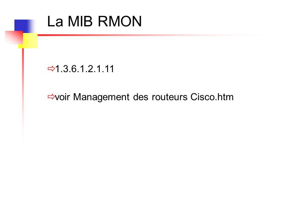  1.3.6.1.2.1.11  voir Management des routeurs Cisco.htm