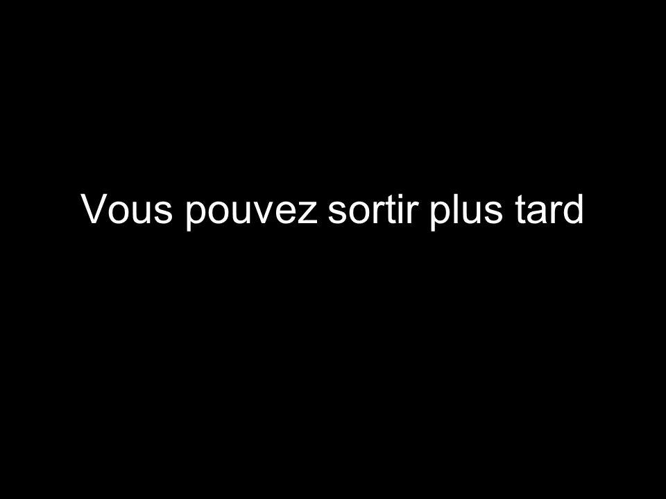 PAUSE…. Le texte vient maintenant….
