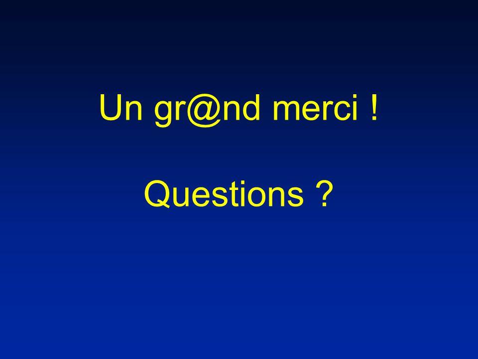 Un gr@nd merci ! Questions ?