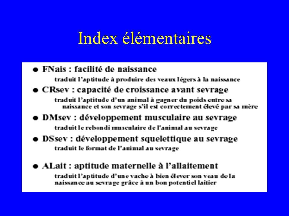 Index élémentaires