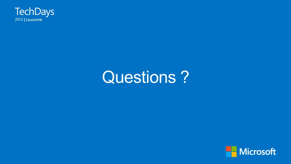 | Lausanne Questions ?
