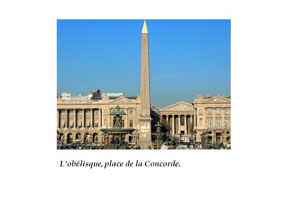 L obélisque, place de la Concorde.