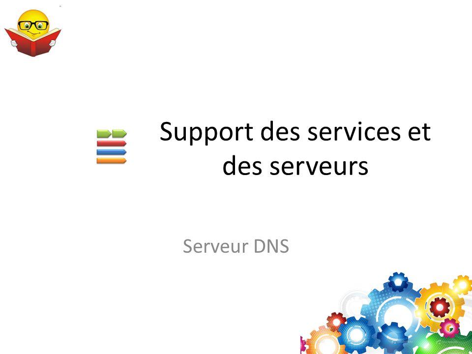 Support des services et des serveurs Serveur DNS