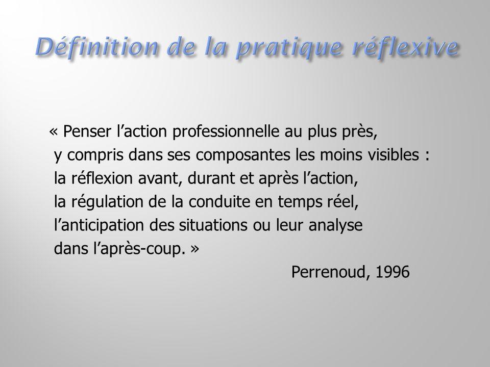 « Penser l'action professionnelle au plus près, y compris dans ses composantes les moins visibles : la réflexion avant, durant et après l'action, la r
