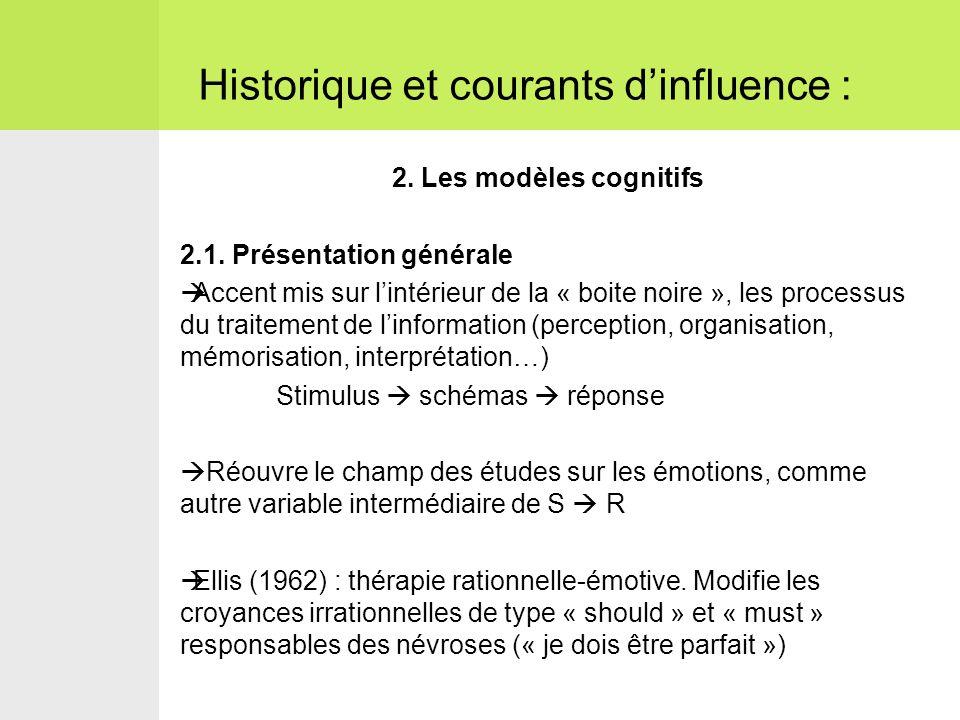2.Les modèles cognitifs 2.1.