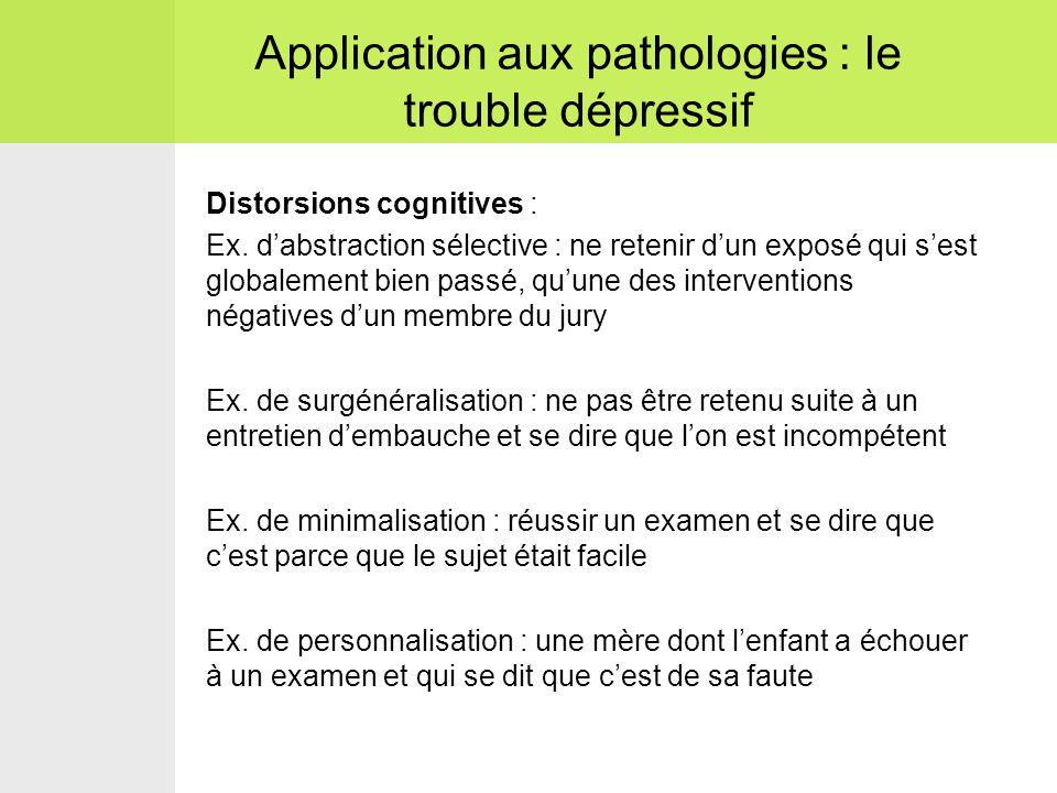 Distorsions cognitives : Ex.