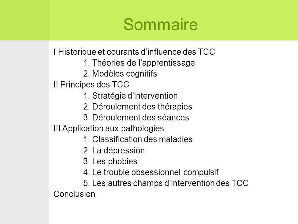 Sommaire I Historique et courants d'influence des TCC 1.
