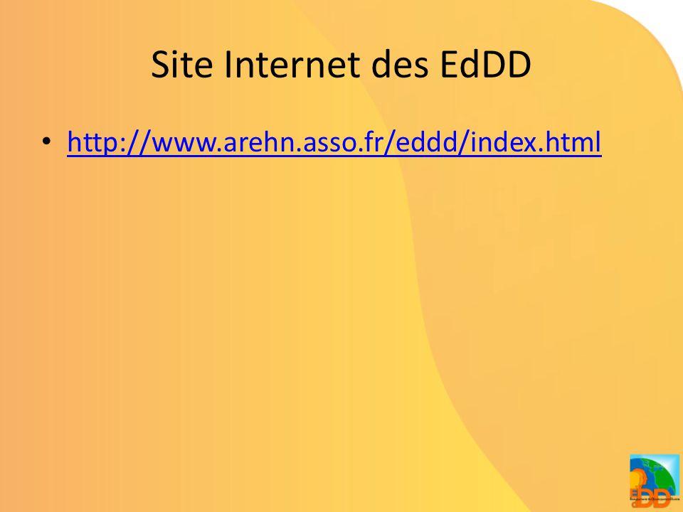 Site Internet des EdDD • http://www.arehn.asso.fr/eddd/index.html http://www.arehn.asso.fr/eddd/index.html