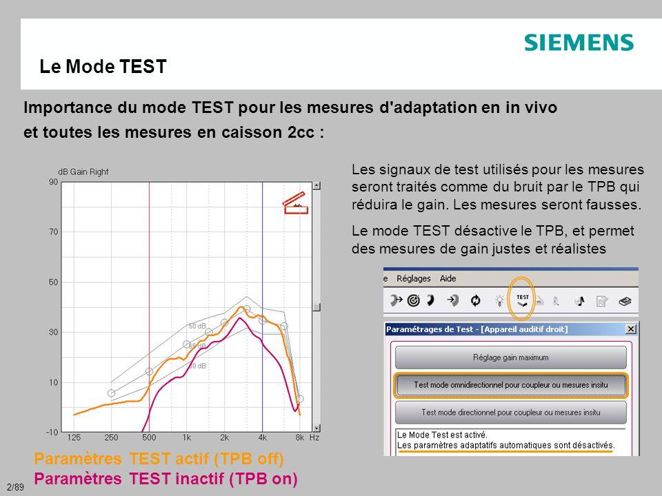 43/89 StandardFit : • Ne change rien à vos habitudes ClinicalFit : • Spécifique à l adaptation pédiatrique • Bénéficie de DSL I/O version 5 • Nécessite de rentrer plus d'informations sur l'audiogramme pour obtenir les cibles • Importe les courbes RECD, modification possible, et intégration dans le préréglage • Affiche les GA simulés @ 50, 65 & 80 dB au lieu des GI simulés @ 40, 65 & 90 dB 2 modes d adaptation possibles : StandartFit & ClinicalFit StandartFit & ClinicalFit GA simulé GI simulé
