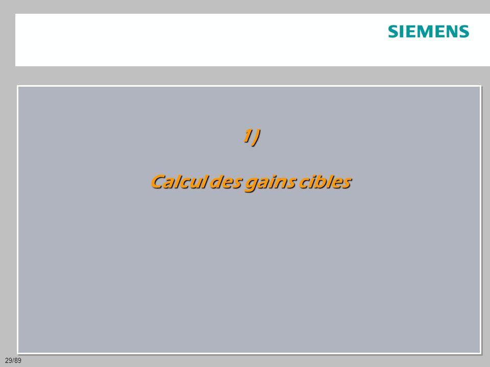 29/89 1) Calcul des gains cibles