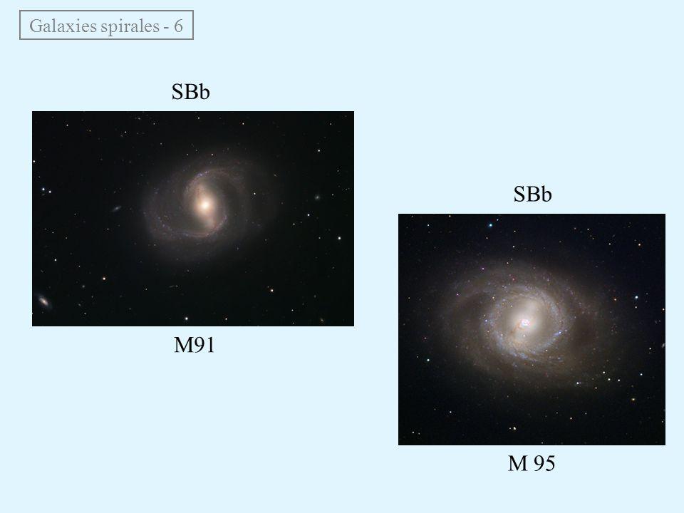 Galaxies spirales - 6 SBb M91 M 95 SBb
