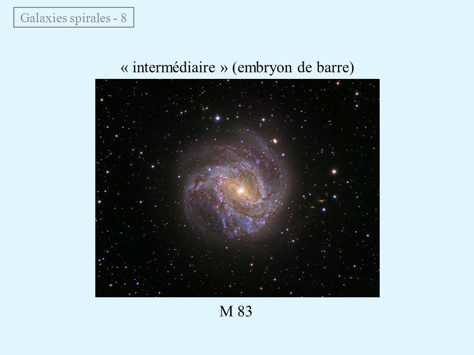 Galaxies spirales - 8 « intermédiaire » (embryon de barre) M 83