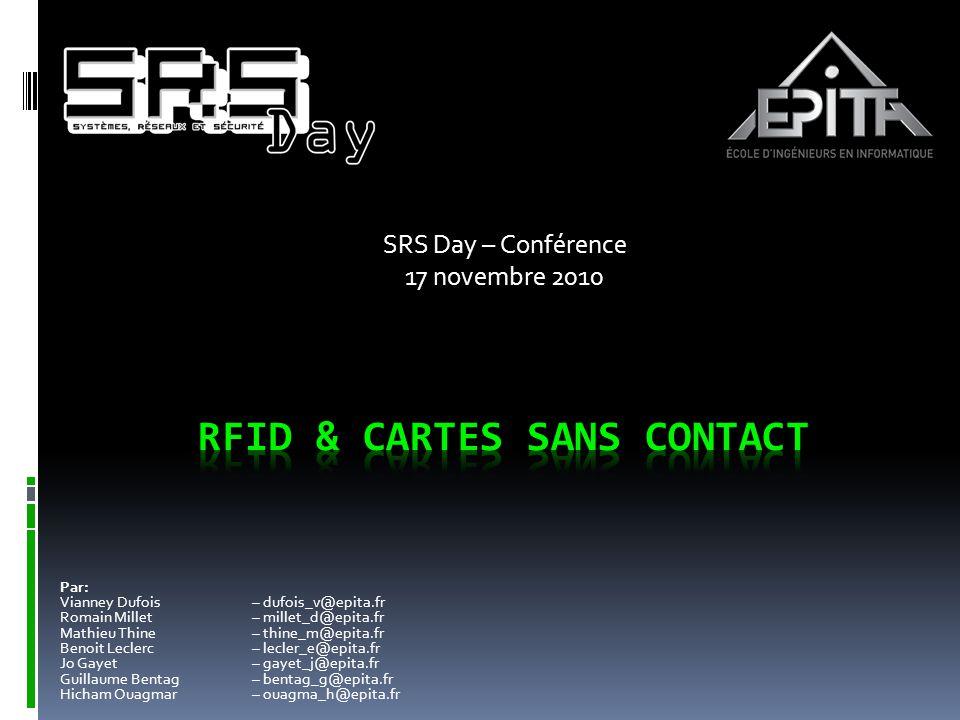 SRS Day – Conférence 17 novembre 2010 Par: Vianney Dufois – dufois_v@epita.fr Romain Millet – millet_d@epita.fr Mathieu Thine – thine_m@epita.fr Benoi