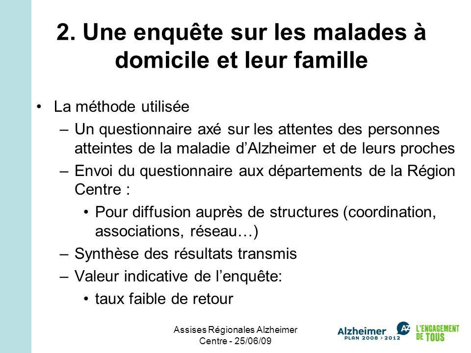 Assises Régionales Alzheimer Centre - 25/06/09 2.