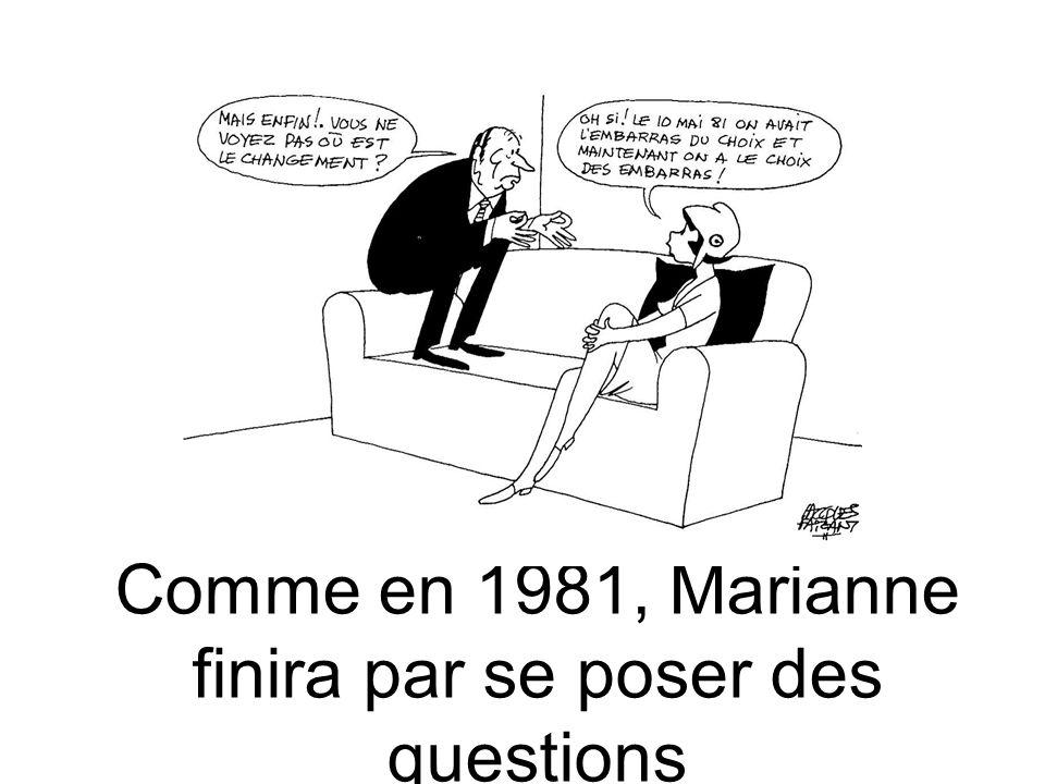 Comme en 1981, Marianne finira par se poser des questions