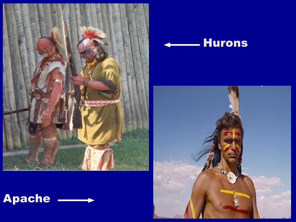Les peuples les plus connus sont : Algonquins (forêts de l'Est) Micmacs (forêts de l'Est) Iroquois (forêts de l'Est) Hurons (forêts de l'Est) Cherokees (Sud-Est) Delawares (Nord-Est) Cris (Cree) Ojibway (Grandes Plaines) Cheyennes (Grandes Plaines) Comanches (Grandes Plaines) Omahas (Grandes Plaines) Sioux (Grandes Plaines) Navajos (Sud-Ouest) Apaches (Sud-Ouest) Pueblos (Sud-Ouest) Mohave (Californie) Documents provenant de différentes sources Défilement au clic