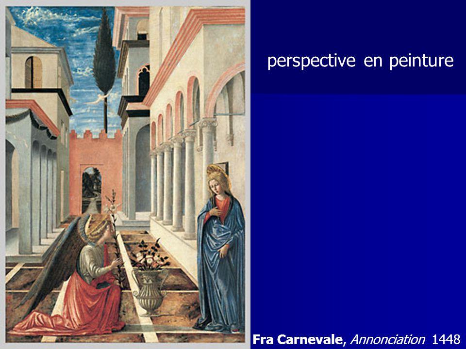 . Fra Carnevale, Annonciation 1448 perspective en peinture