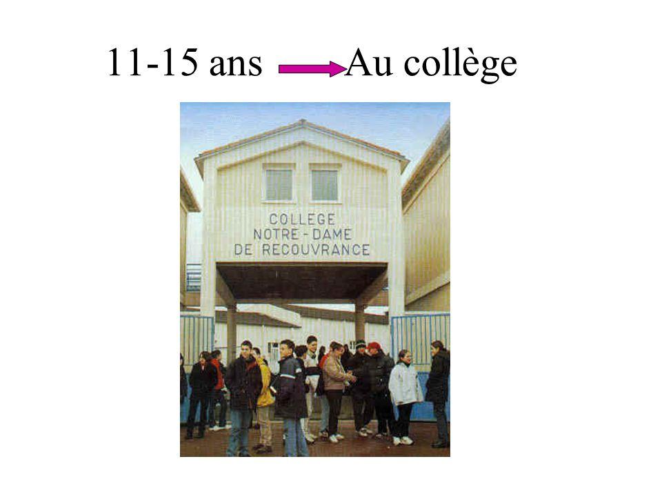 11-15 ans Au collège