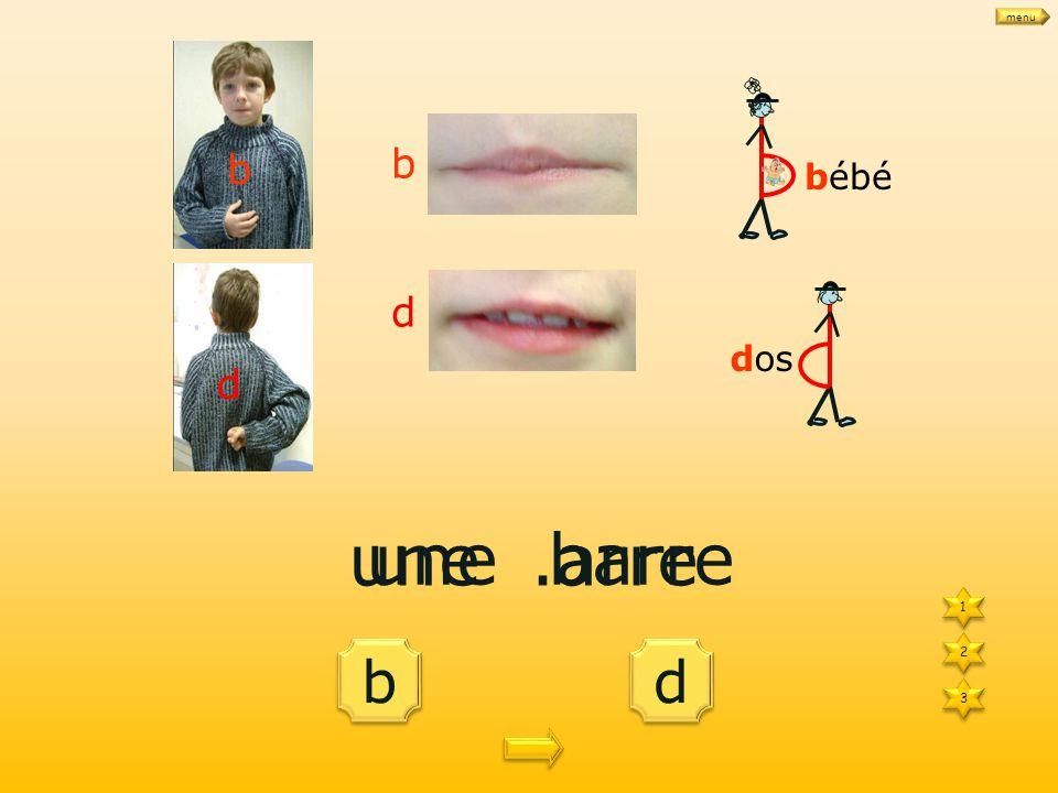 d d b b des.illes 1 1 3 3 2 2 bébé dos b d b d des billes menu