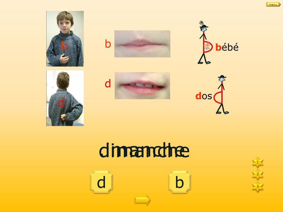 d d b b une.arre 1 1 3 3 2 2 bébé dos b d b d une barre menu