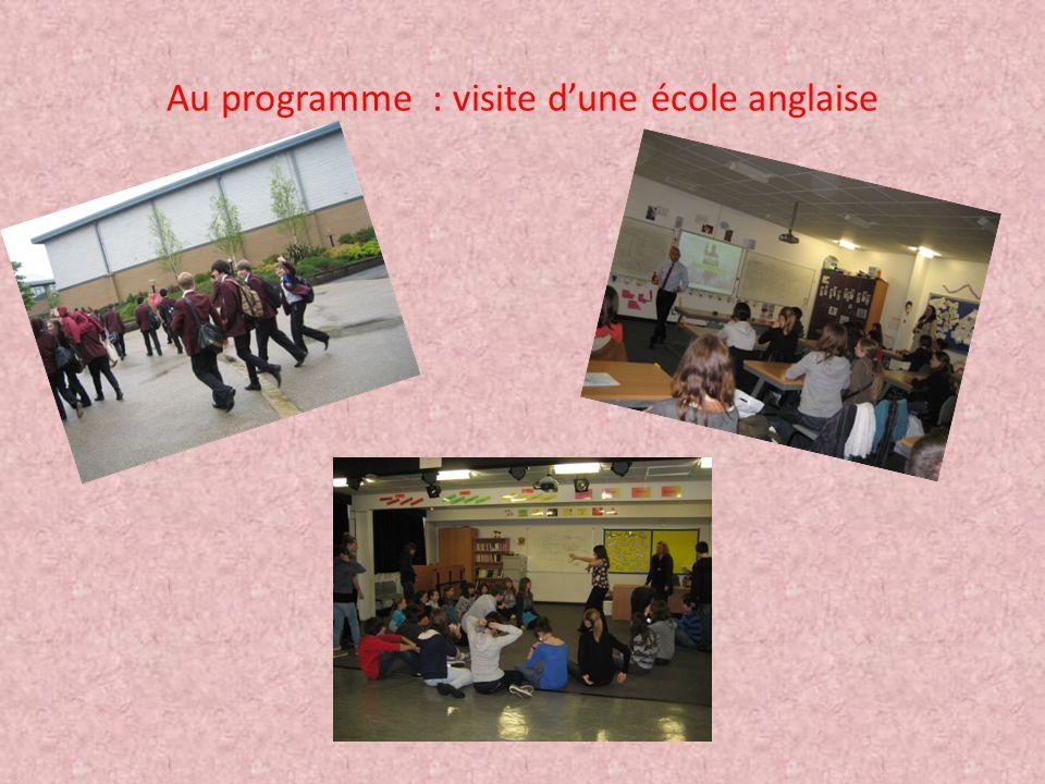 Au programme : visite d'une école anglaise