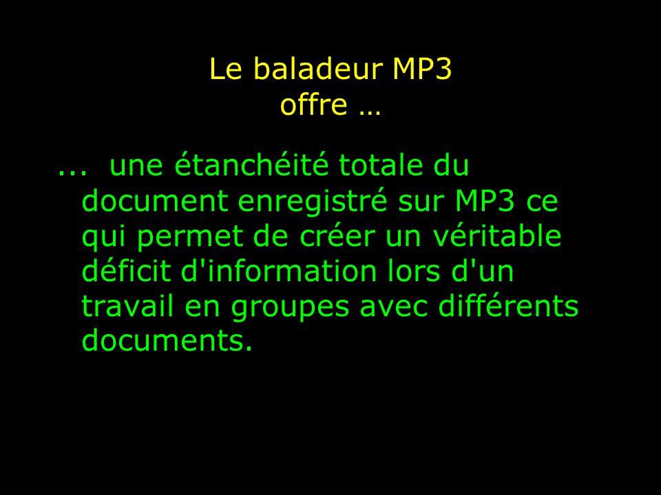 Le baladeur MP3 offre …...