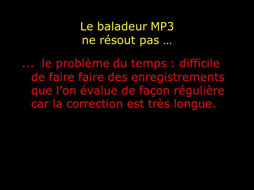 Le baladeur MP3 ne résout pas …...