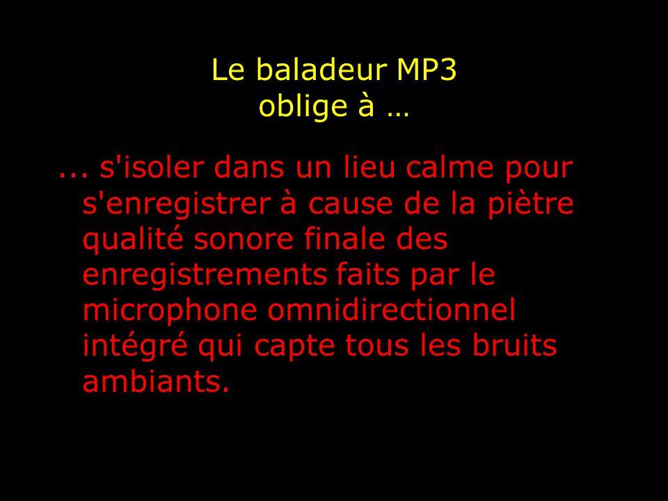 Le baladeur MP3 oblige à …...