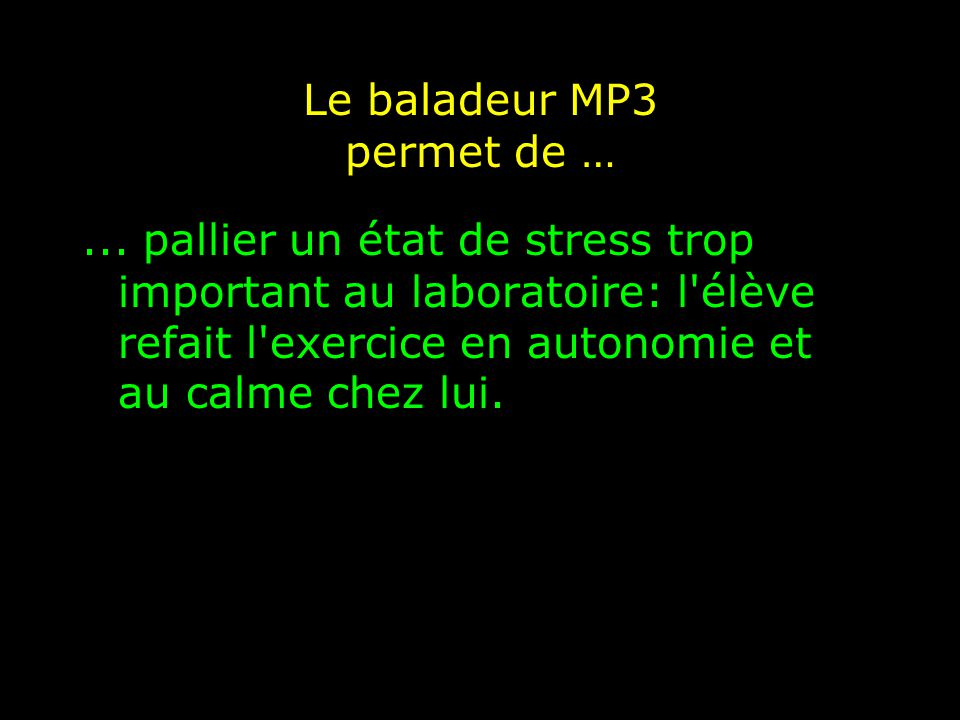 Le baladeur MP3 oblige à …...discipliner les élèves.
