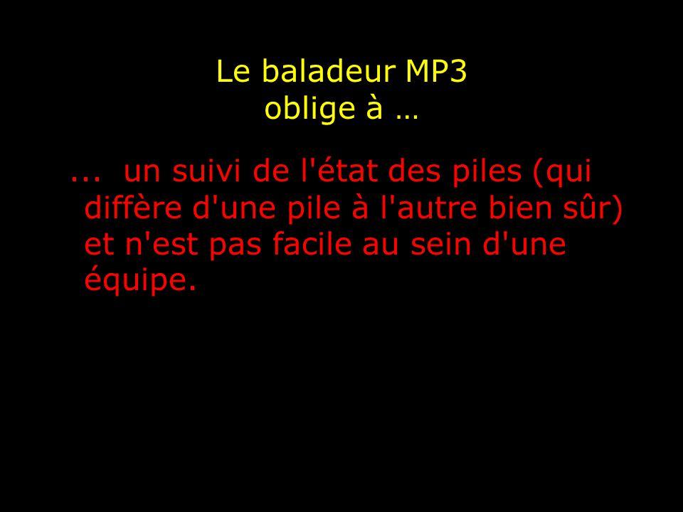 Le baladeur MP3 permet de …...pallier les absences lors des évaluations.