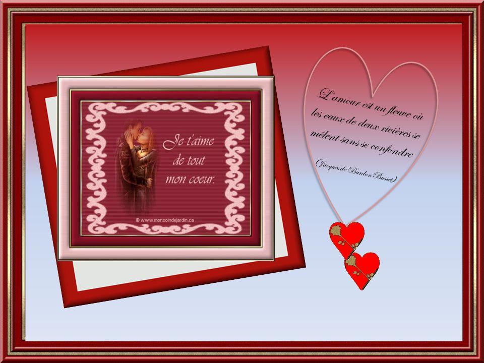 L'amour est un fleuve où les eaux de deux rivières se mêlent sans se confondre (Jacques de Burdon Busset)