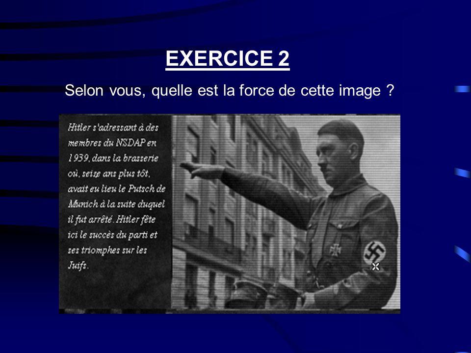 EXERCICE 1 Que signifie cette image pour vous .