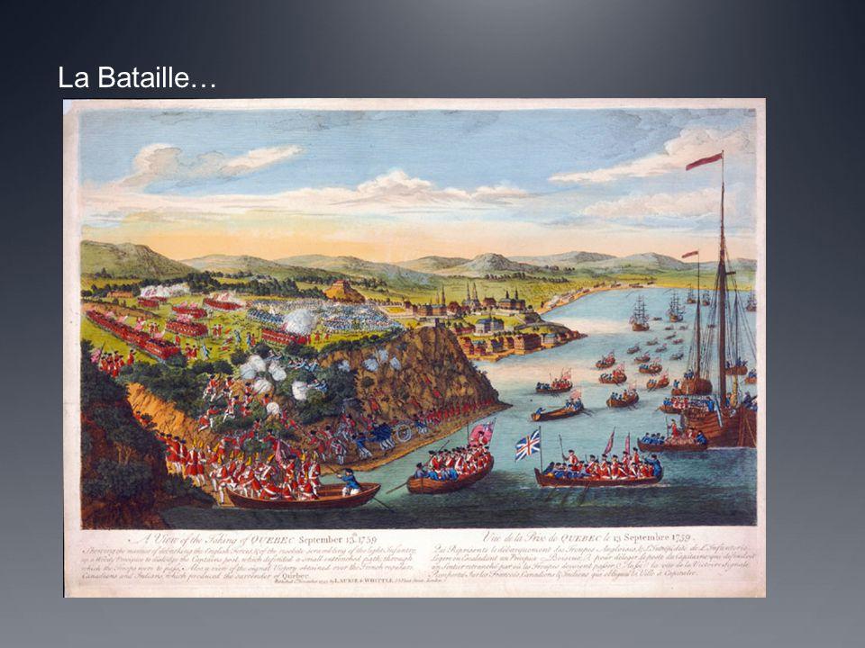 -Wolfe et l'armée Anglais ont gagné la bataille sur les Plaines d'Abraham.