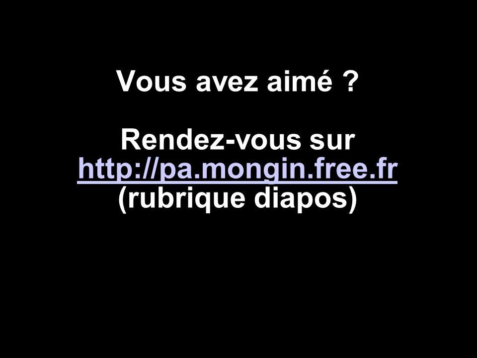 Vous avez aimé ? Rendez-vous sur http://pa.mongin.free.fr (rubrique diapos) http://pa.mongin.free.fr