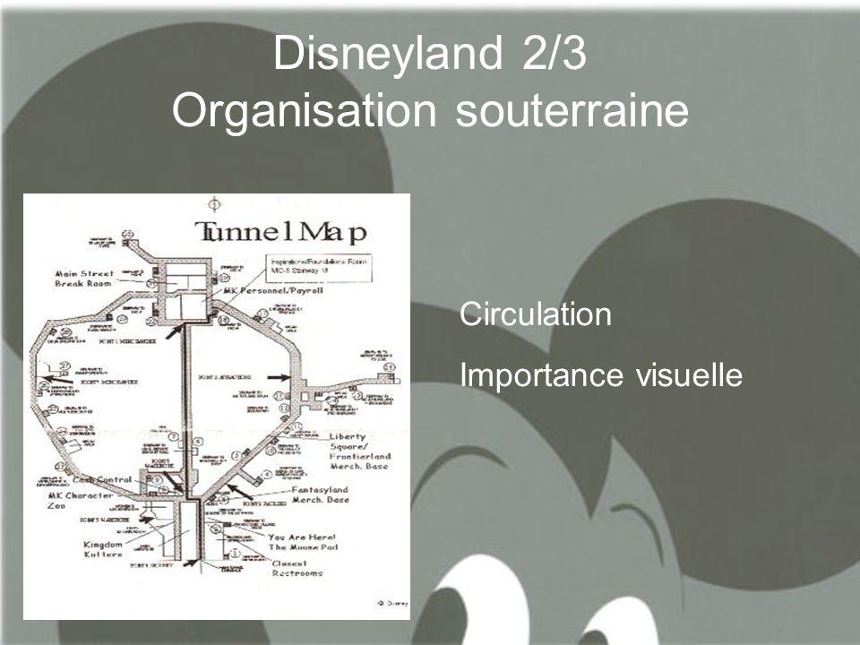 Disneyland 2/3 Organisation souterraine Circulation Importance visuelle