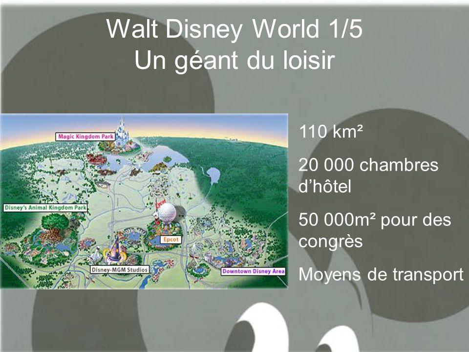 Walt Disney world 2/5 La révolution floridienne Aménagements du territoire et création d'une métropole .