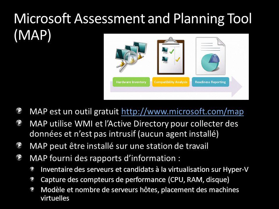 MAP est un outil gratuit http://www.microsoft.com/maphttp://www.microsoft.com/map MAP utilise WMI et l'Active Directory pour collecter des données et