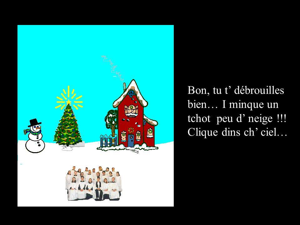 Bravo !!! Clique su ch' bonhomme éd' neige pour li mette un bieu capieu…