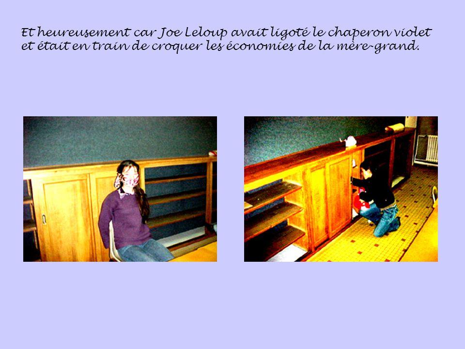 Et heureusement car Joe Leloup avait ligoté le chaperon violet et était en train de croquer les économies de la mère-grand.