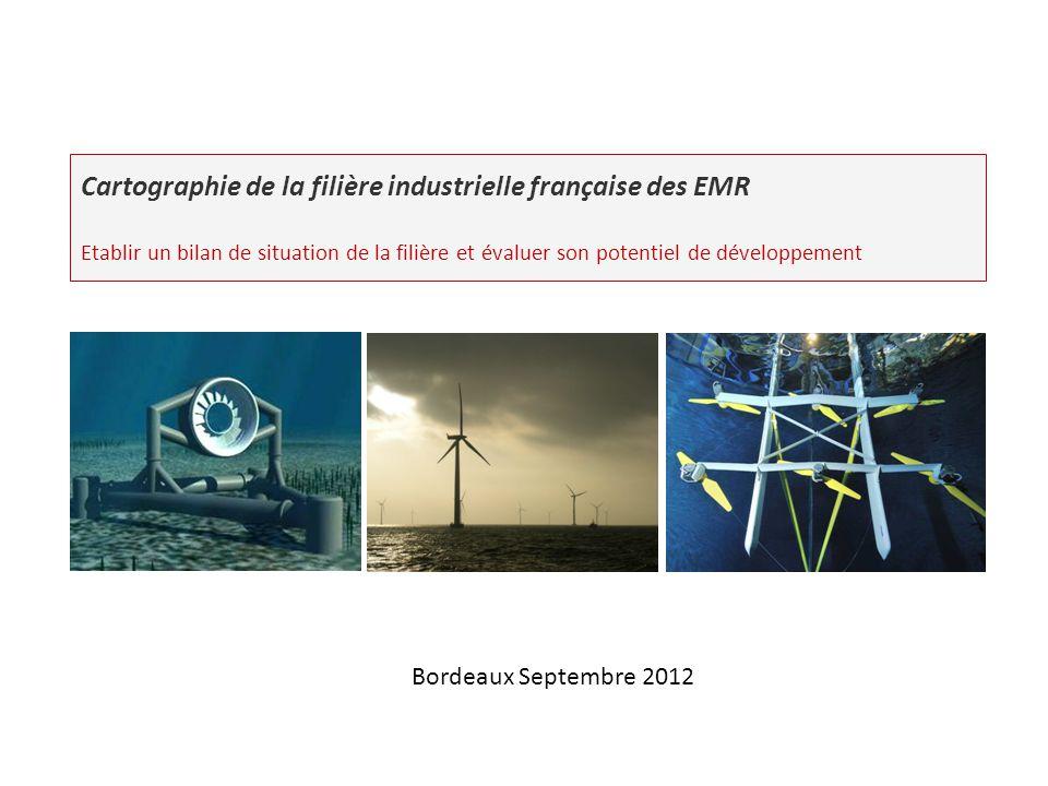 Cartographie de la filière industrielle française des EMR Etablir un bilan de situation de la filière et évaluer son potentiel de développement Bordea