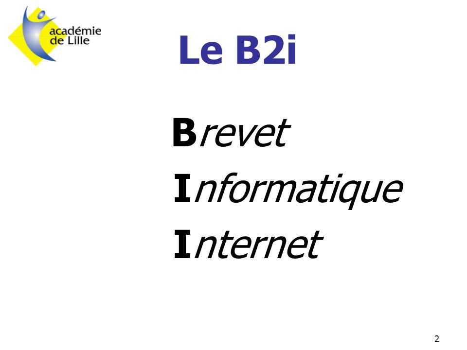 2 Brevet Informatique Internet