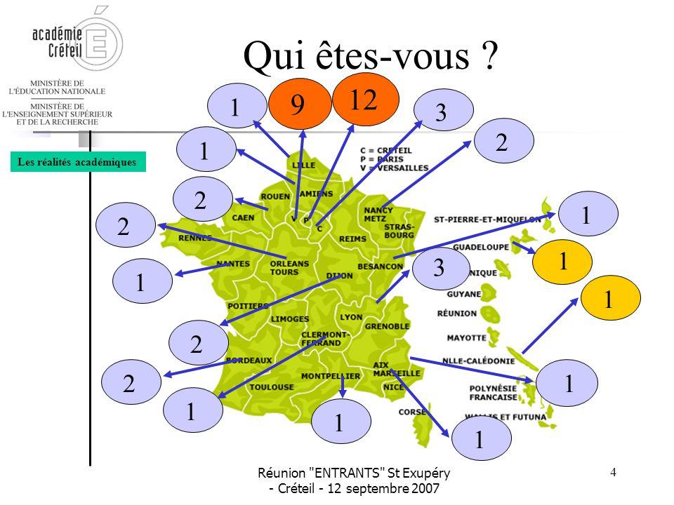 Réunion ENTRANTS St Exupéry - Créteil - 12 septembre 2007 15 La formation •Le Plan Académique de FormationPlan Académique de Formation •Le programme d'animationprogramme d'animation Vos ressources