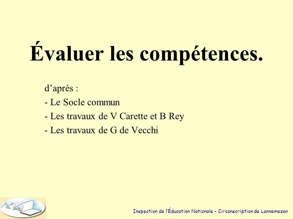 Trois degrés de compétences.(1) •Niveau 1 : Posséder des procédures automatisées.