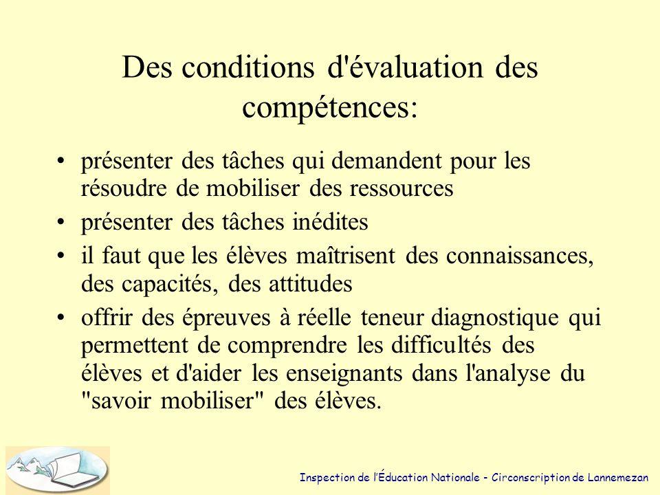 Trois degrés de compétences. (4) Niveau 3 •Savoir choisir et combiner correctement plusieurs procédures de base pour traiter une situation nouvelle et