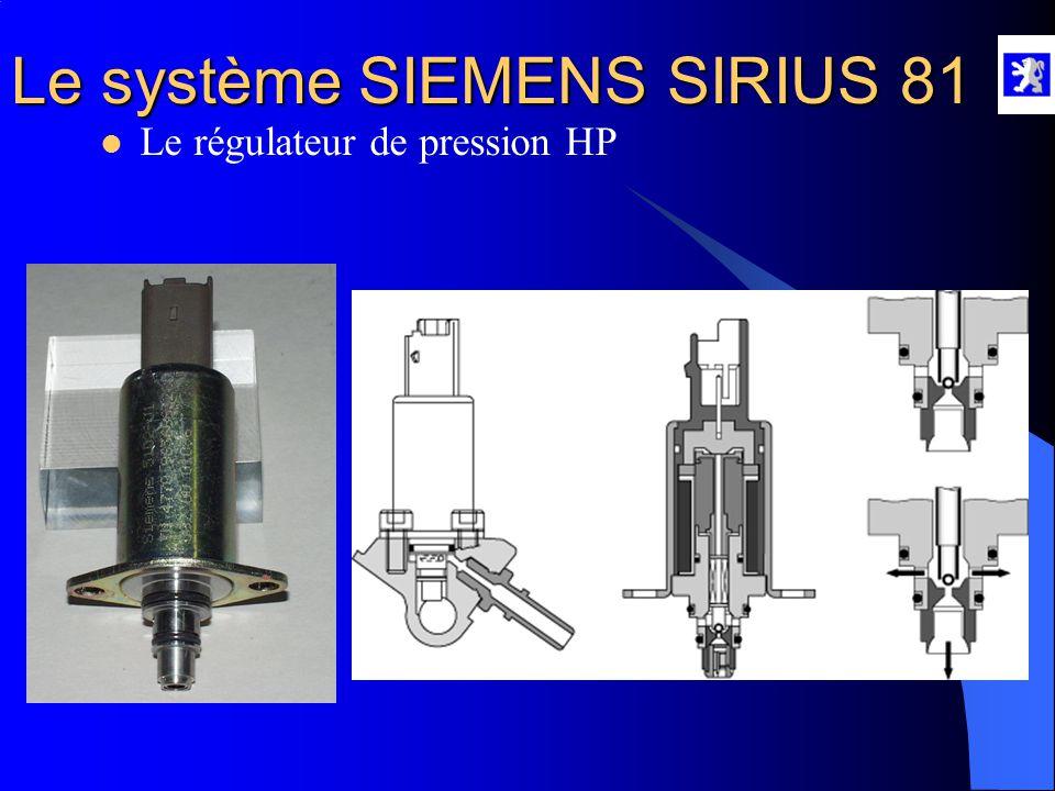 Le système SIEMENS SIRIUS 81  Le capteur de pression HP A l'aide du diag 2000 : - Mesures paramètres, injection en moteur tournant