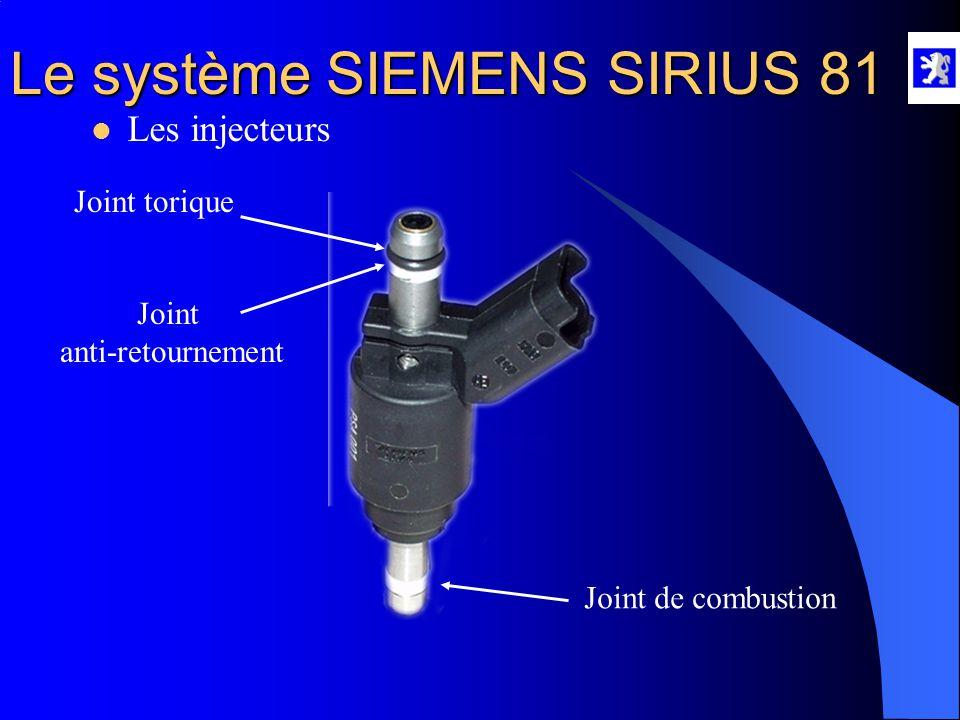 Le système SIEMENS SIRIUS 81  Le régulateur de pression HP A l'aide du diag 2000 : - Mesures paramètres, injection en moteur tournant