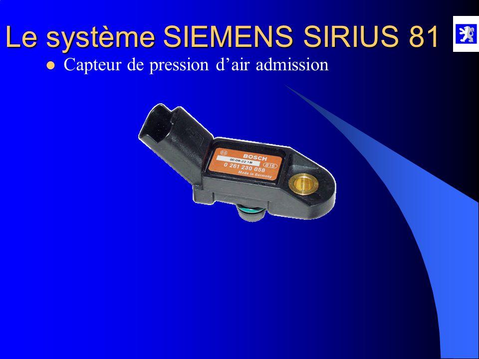 Le système SIEMENS SIRIUS 81  Le boîtier papillon motorisé A l'aide du diag 2000 : - Menu mesures paramètres, roulage, injection, allumage, dépolluti